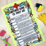 Mother's Guide to First Aid vintage tea towel