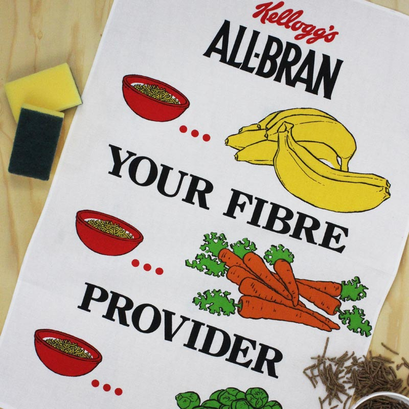 All Bran tea towel