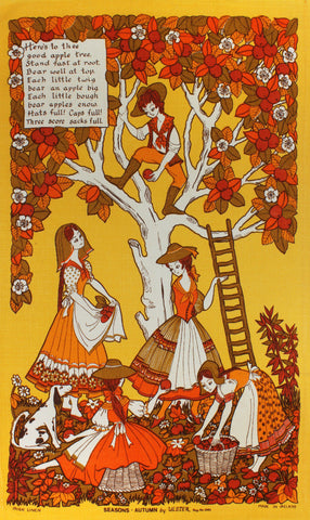 Autumn tea towel