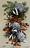 Badgers vintage tea towel