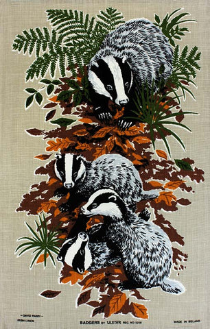 Badgers tea towel