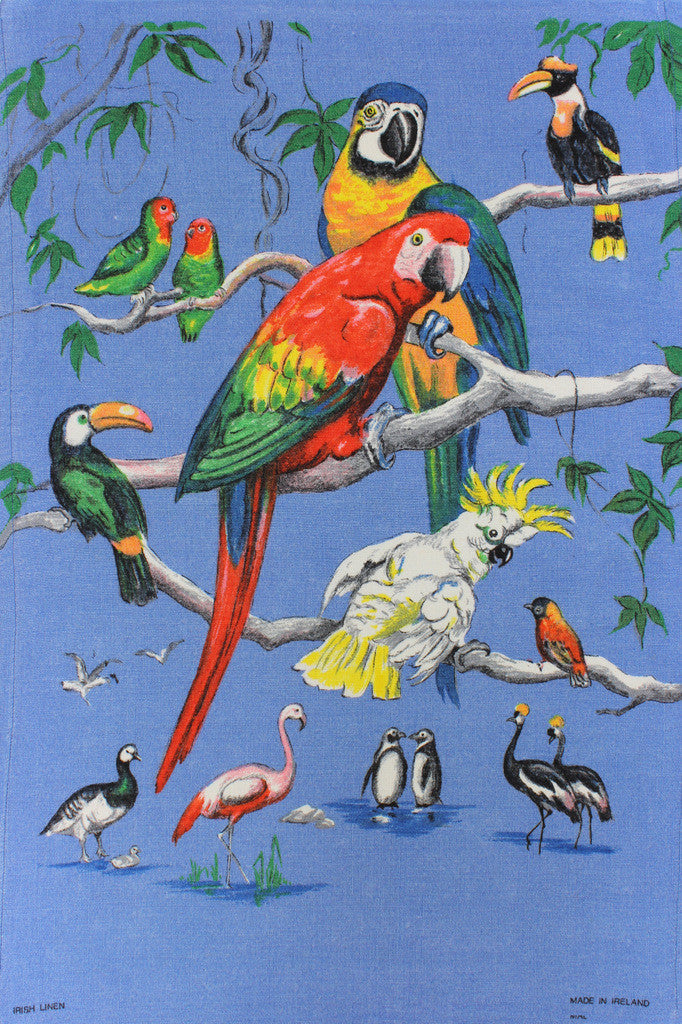 Beautiful Birds tea towel