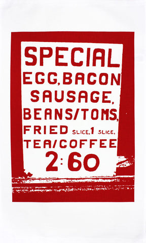 Big Breakfast tea towel