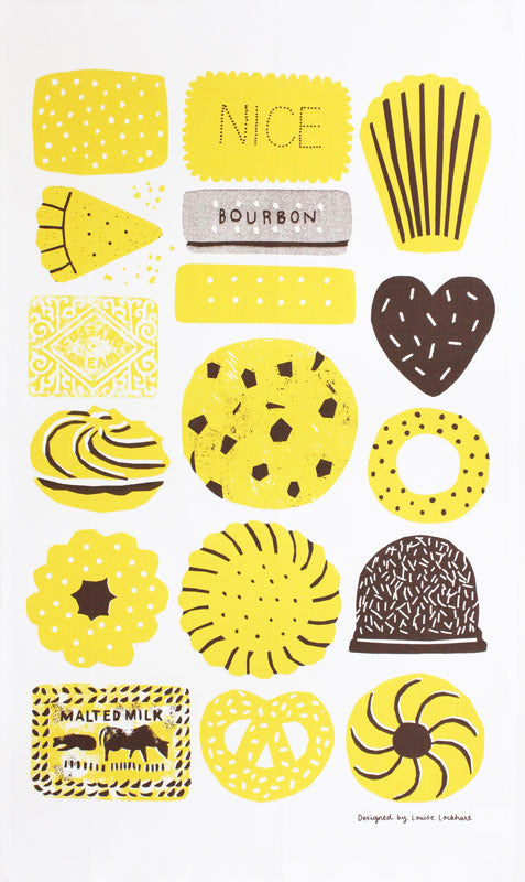 Biscuits tea towel