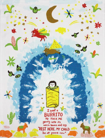 Burrito tea towel