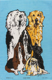 Canine Friends tea towel