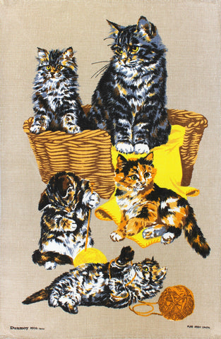 Cats at Play tea towel