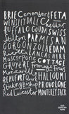 Cheese typography tea towel