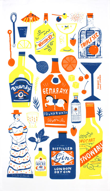 Cocktail Cabinet tea towel