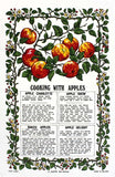 Cooking with Apples vintage tea towel
