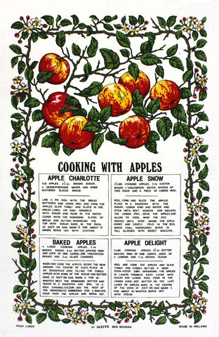 Cooking with Apples tea towel