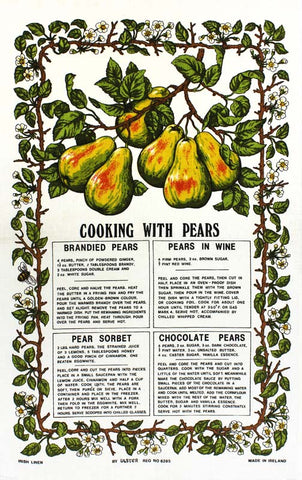 Cooking with Pears tea towel