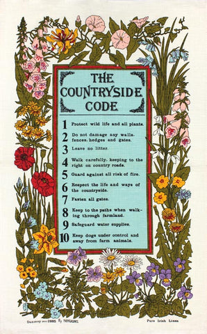 The Countryside Code tea towel