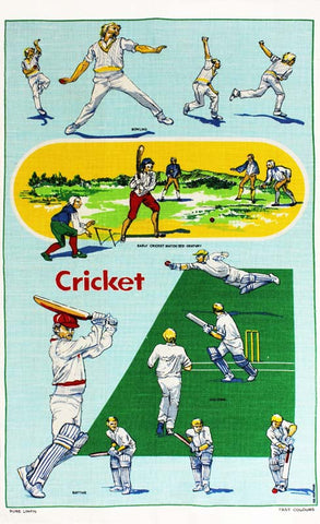 Cricket tea towel