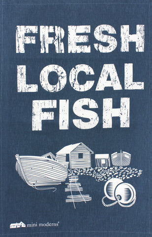 Fresh Local Fish tea towel