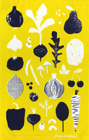 Fruit & Veg tea towel