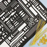 Geometry of Pasta tea towel (black)