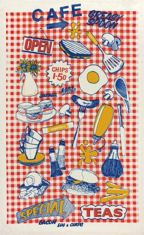 Greasy Spoon tea towel