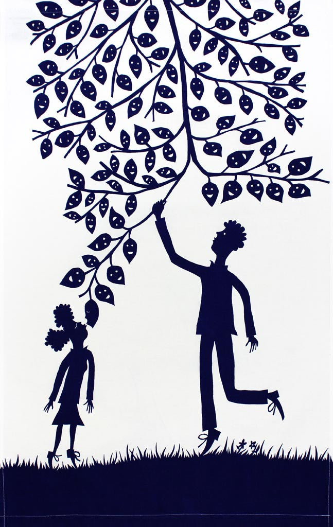 Helping Hand tea towel by Rob Ryan for The Sick Children's Trust