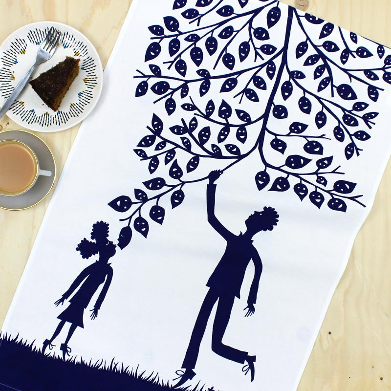 Helping Hand tea towel by Rob Ryan
