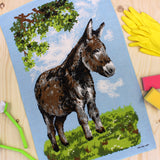 Donkey tea towel