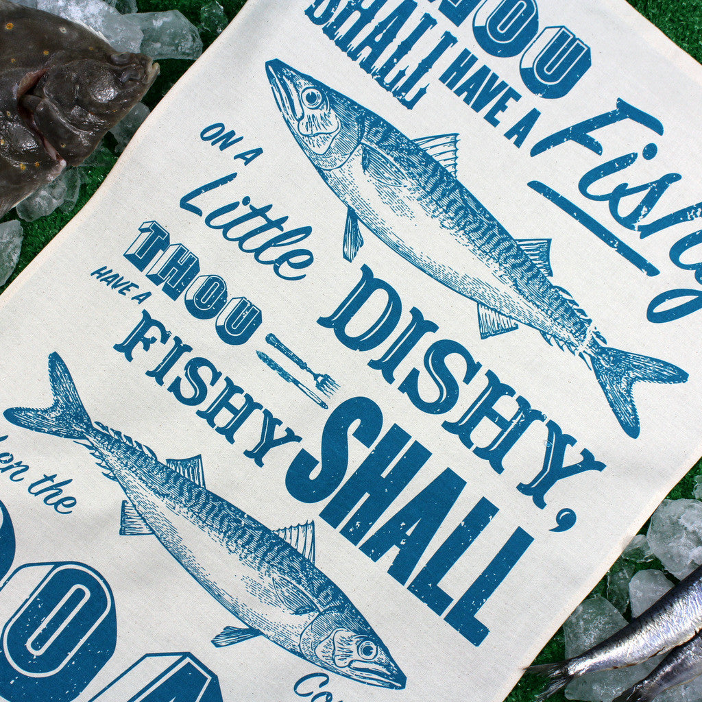 Sea Shanty tea towel