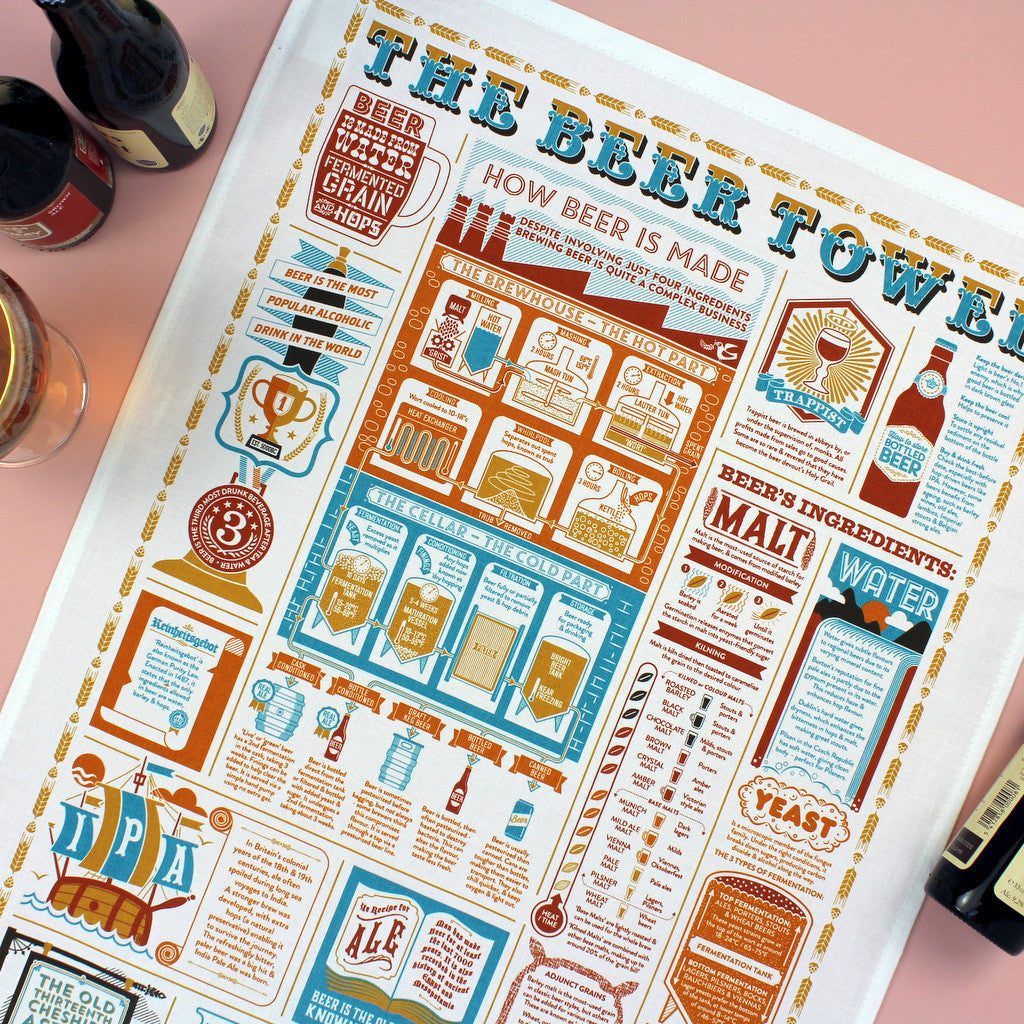 The Beer Towel tea towel