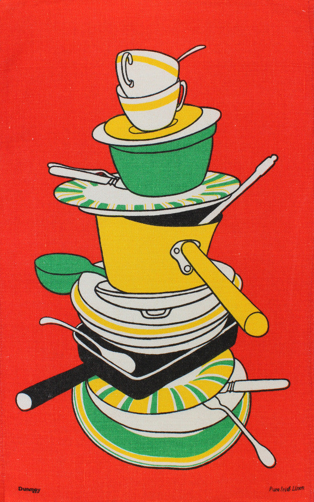 Kitchen Dishes tea towel