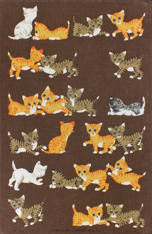 Kitten Litter tea towel