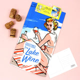Lake Wine tea towel