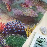 Living Corals tea towel