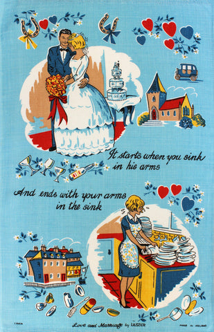 Love and Marriage tea towel