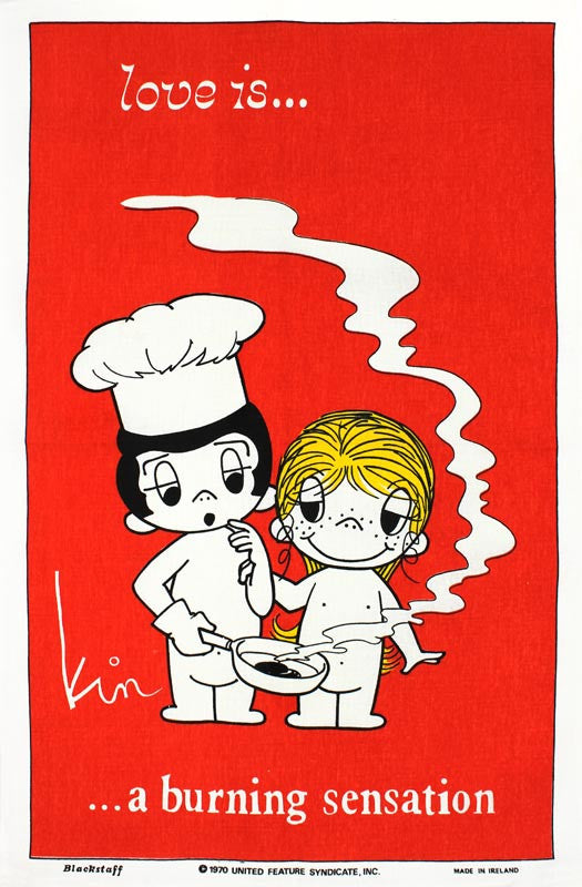Love Is... A Burning Sensation tea towel