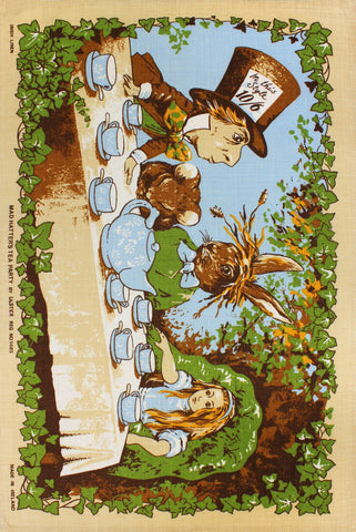 Mad Hatter's Tea Party tea towel