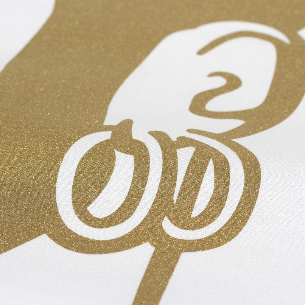 Mr Tea Towel (metallic gold)