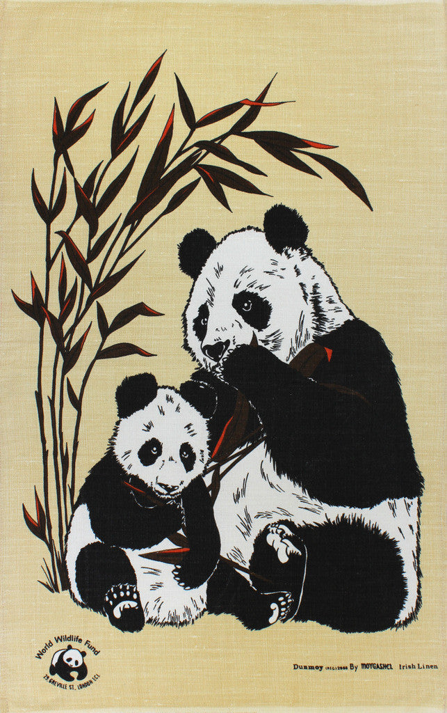 Panda tea towel