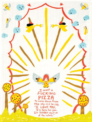 Pizza tea towel