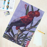 Red Cock of the Rock bird tea towel