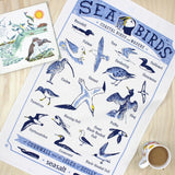 Seabirds tea towel