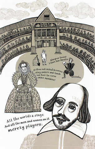 Shakespeare tea towel