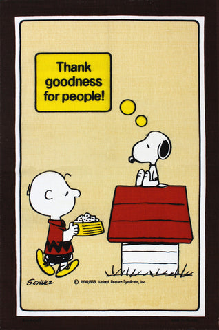 Snoopy Thank Goodness tea towel