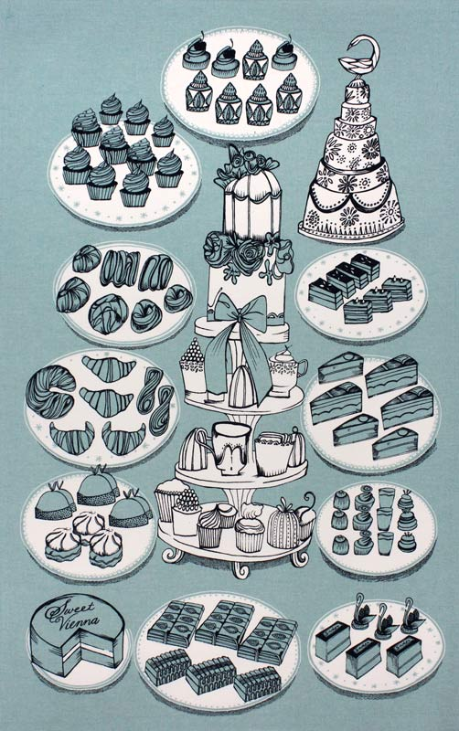 Sweet Vienna tea towel