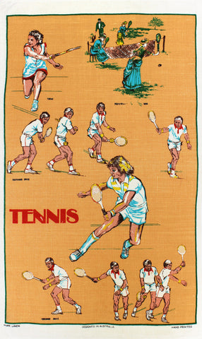 Tennis tea towel