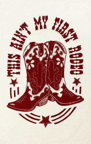 Rodeo Cowboy Boots tea towel