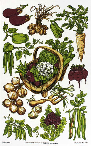 Vegetable Basket tea towel