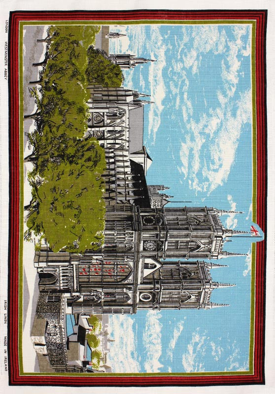 Westminster Abbey tea towel