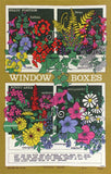 Window Boxes vintage tea towel