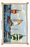 Yachting tea towel