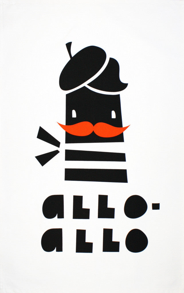 Allo-Allo tea towel