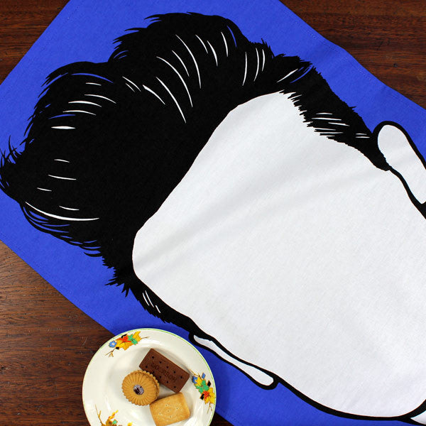 Morrissey tea towel by Bold and Noble